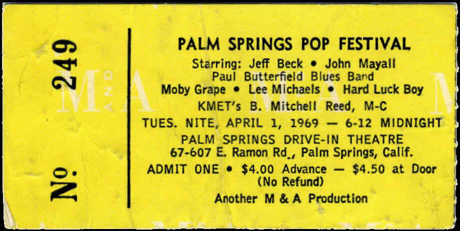 Palm Springs Pop Ticket