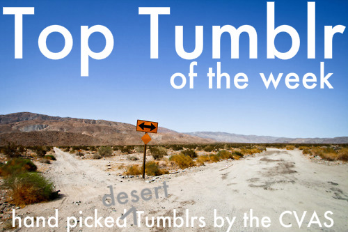 Top Tumblr of the Week: hand selected desert Tumblrs by the CVAS