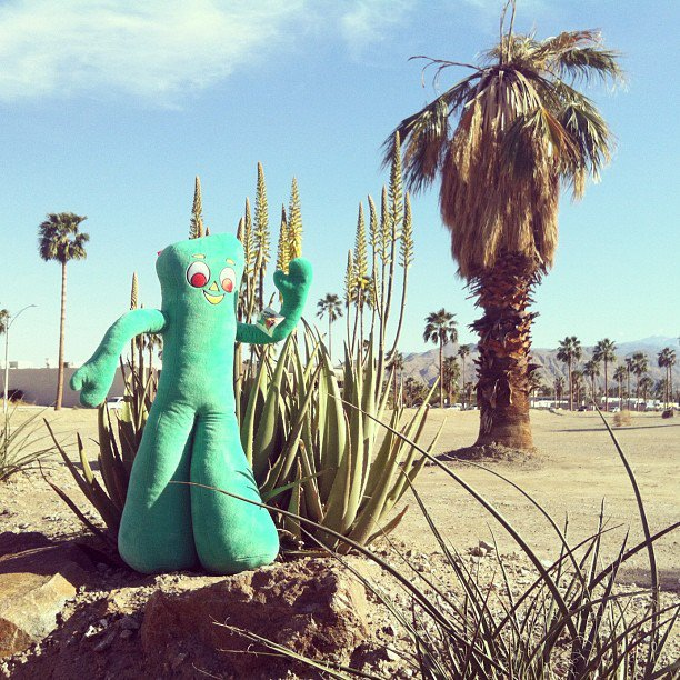 gumby in palm springs - photo by sarah scheideman