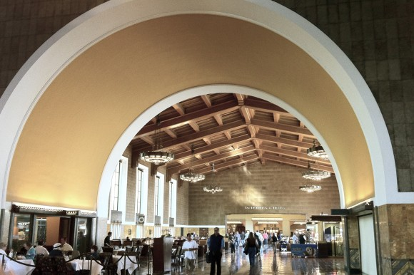 a trip to Union Station  from Los Angeles to Palm Springs  - a story by Sarah Scheideman