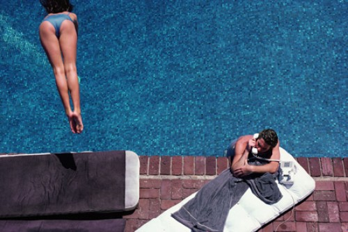 """Richard Gere — Poolside,"" by Herb Ritts, 1982. From ""Backyard Oasis."""