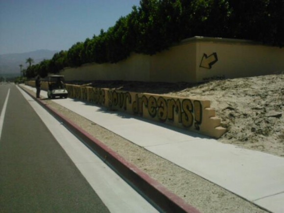 coachella valley street scene, street art in palm springs