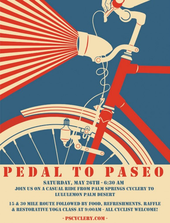 Pedal to Paseo - Palm Springs Cyclery & lululemon