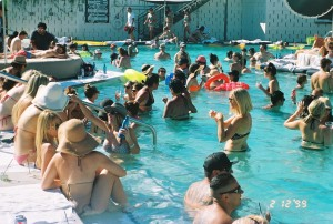 world famous pool party at the ace hotel with alf alpha and the coachella valley art scene