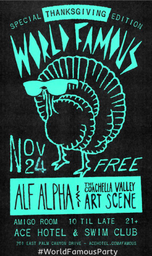 world famous party in palm springs with alf alpha and the coachella valley art scene