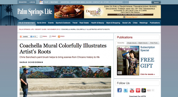 sarah scheideman interviews chris sanchez for his mural for palm springs life