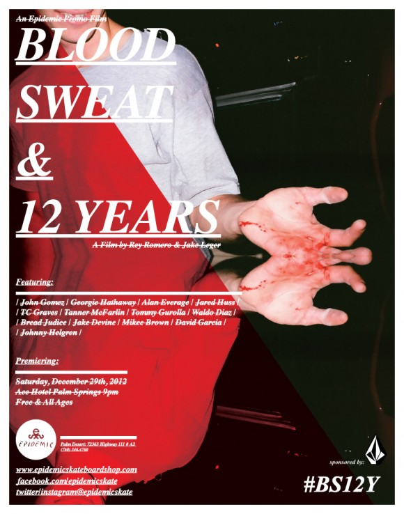 Blood, Sweat & 12 Years epiposter