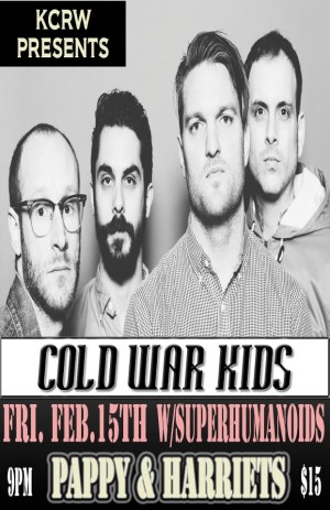 Cold War Kids at Pappy & Harriets