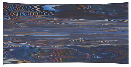 """Andy Moses """"Boreas"""" acrylic on hyperparabolic concave canvas 45''H x 90''W"""