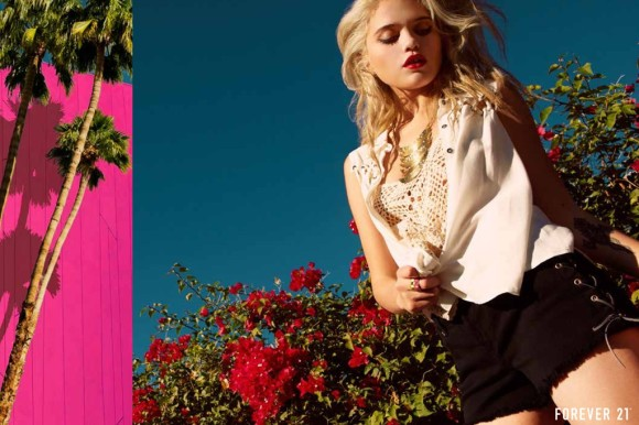 Sky Ferreira for Forever 21 in palm springs