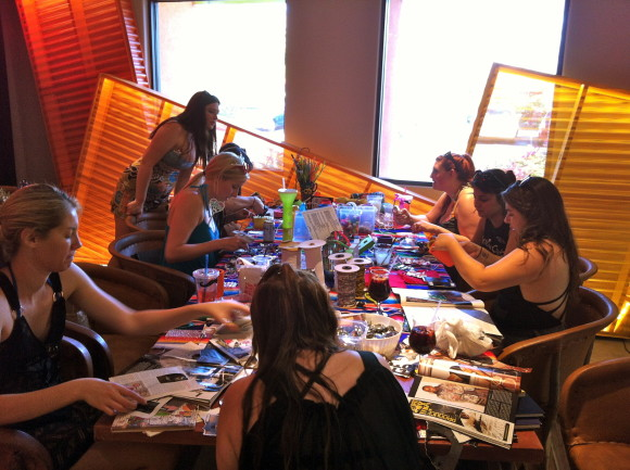 free craft table at the saguaro hotel with the coachella valley art scene