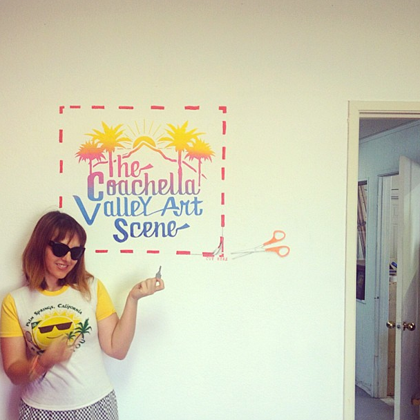 the coachella valley art scene office, sarah scheideman