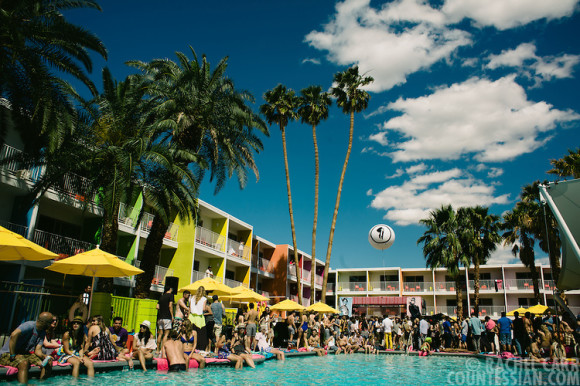 a club called rhonda pool party at the saguaro hotel in palm springs