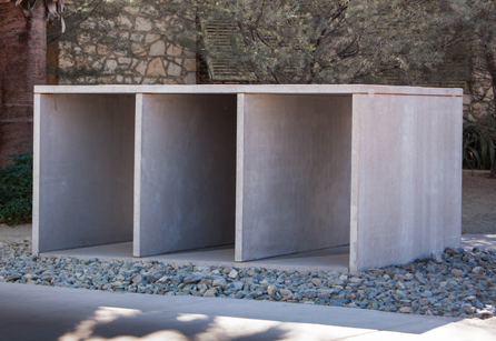 Donald Judd, Untitled, 1988-91, concrete, Gift of Bettina and Donald Bryant
