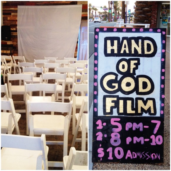hand of god film screening at the coachella valley art scene gallery