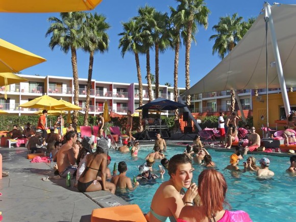 alf alpha at pool party sagurao hotel in palm springs