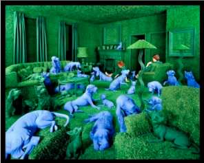 Sandy Skoglund, The Green House, 1990, cibachrome color photograph, gift of Trish Bransten in honor of the 75th Anniversary of the Palm Springs Art Museum