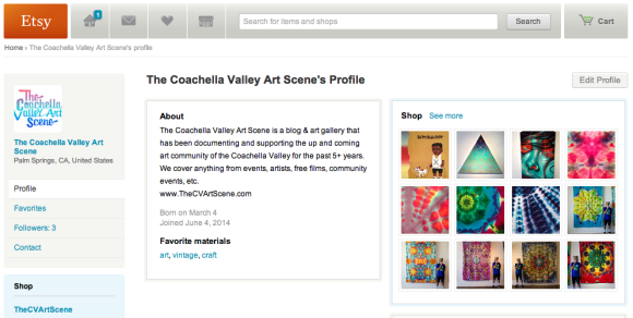 The Coachella Valley Art Scene Etsy