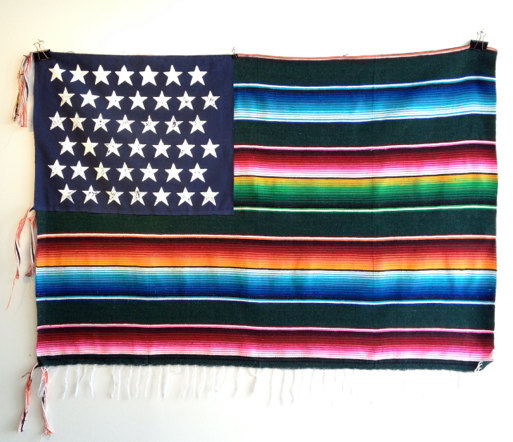 Mexican American Flag by Nacho Becerra