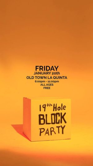 19th hole block party with the coachella valley art scene