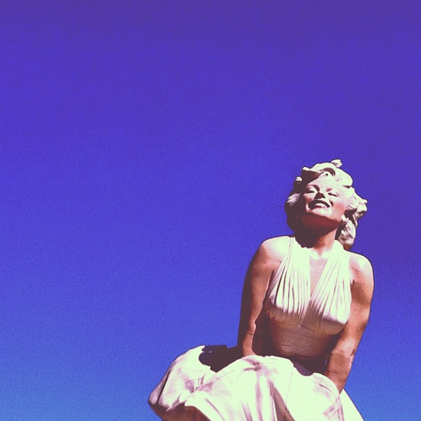 forever marilyn in palm springs photo by sarah scheideman