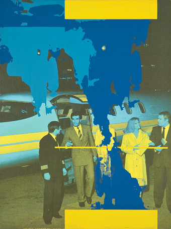 Guyton/Walker, Untitled (Blue Airplane), 2005, silkscreen and inkjet on canvas. Read more at http://la-confidential-magazine.com/channels/home-page/insights/palm-springs-art-museum-beg-borrow-and-steal#lb8rswbSvFQoib5L.99