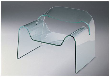 Cini Boeri and Tomu Katayanagi, Ghost Chair, 1987, glass, museum purchase with funds provided by Donna MacMillan